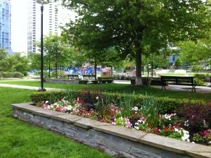 Garden in a park
