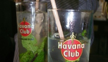 Two glasses of mojitos