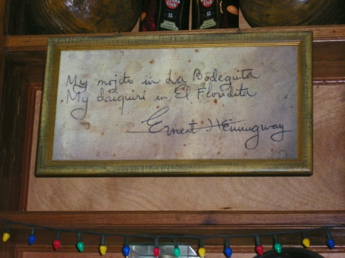 Autographed sign by Hemingway