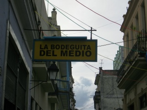 Sign reading La Bodeguita del Medio