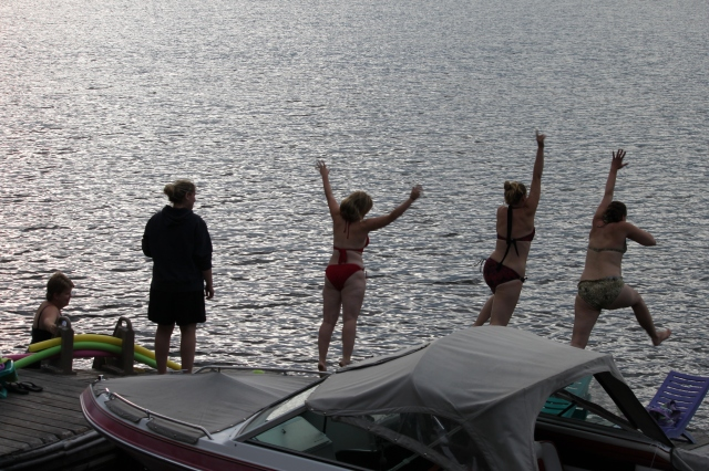 Jumping off the dock in 2012