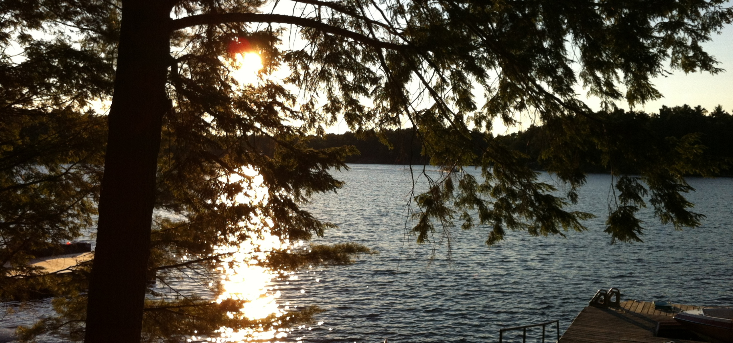 Sunset at Harris Lake