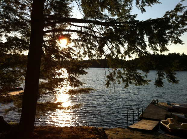 Sunset at the cottage, Harris Lake, Ontario