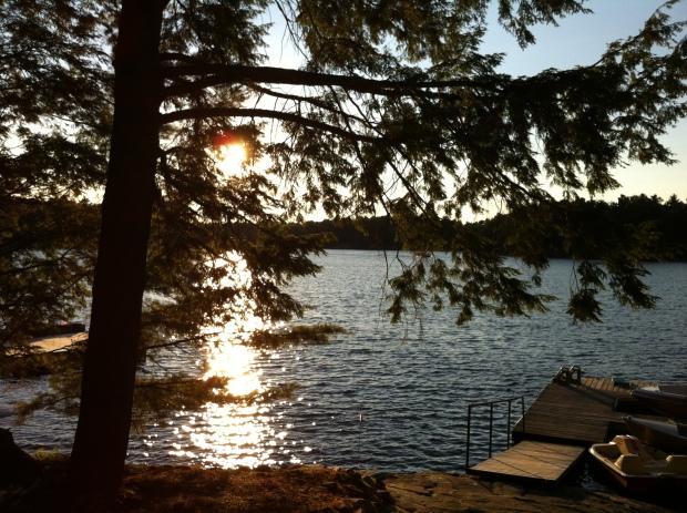 Sunset at the cottage, Harris Lake, Ontario