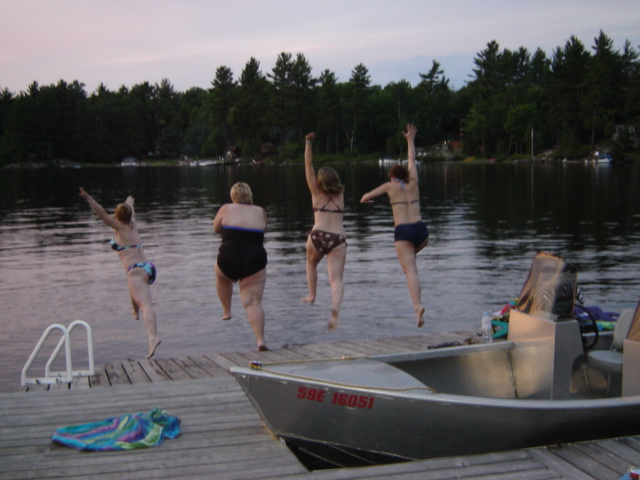 Jumping off the dock in 2006