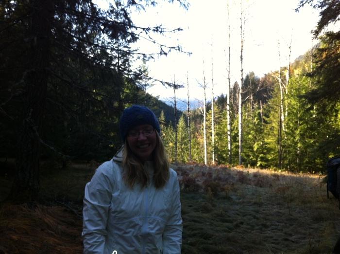 Tammy hiking on Day 2