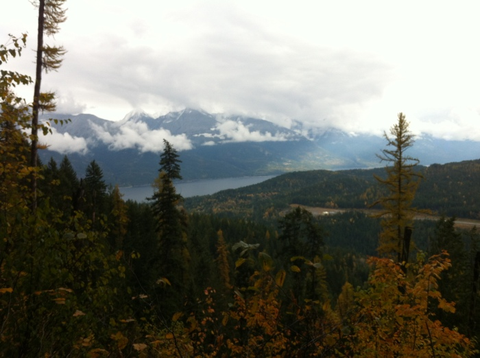 mountain and lake view, Kootenays