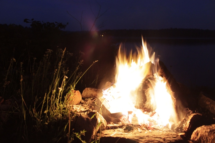 Fire is fun when beer, s'mores and a lake are involved
