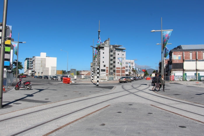 The scene in downtown Christchurch