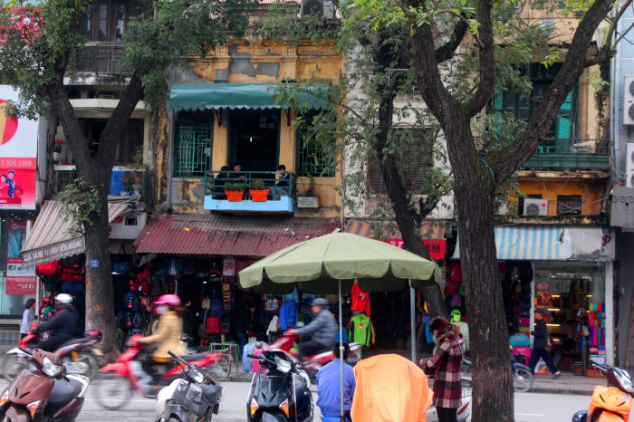 The streets of Hanoi
