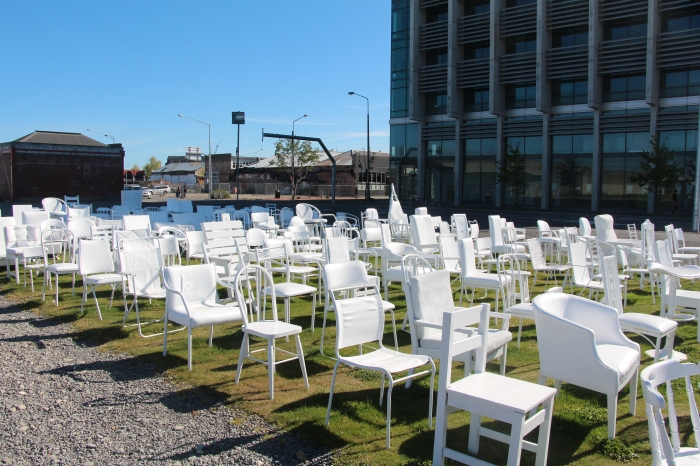 185 empty chairs for 185 lives lost