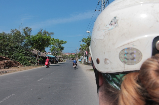 Hopping on a motorbike in Hoi An is far easier than in Hanoi