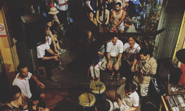 crowd gathered in a jazz bar in Chiang Mai
